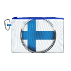 Finland Country Flag Countries Canvas Cosmetic Bag (large)