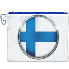 Finland Country Flag Countries Canvas Cosmetic Bag (xxxl)