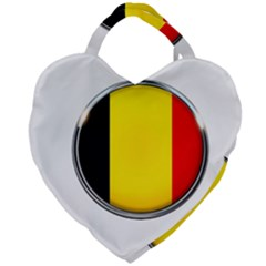 Belgium Flag Country Brussels Giant Heart Shaped Tote
