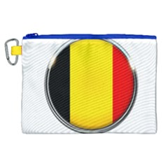 Belgium Flag Country Brussels Canvas Cosmetic Bag (xl)