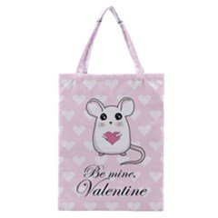 Cute Mouse   Valentines Day Classic Tote Bag