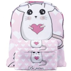 Cute Mouse   Valentines Day Giant Full Print Backpack