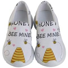 Bee Mine Valentines Day Kid s Lightweight Slip Ons