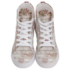 Vintage Chihuahua   Valentines Day Women s Hi Top Skate Sneakers