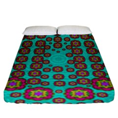 The Worlds Most Beautiful Flower Shower On The Sky Fitted Sheet (king Size)