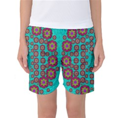 The Worlds Most Beautiful Flower Shower On The Sky Women s Basketball Shorts