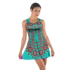 The Worlds Most Beautiful Flower Shower On The Sky Cotton Racerback Dress