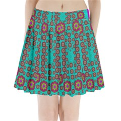 The Worlds Most Beautiful Flower Shower On The Sky Pleated Mini Skirt