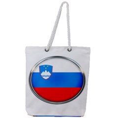 Slovenia Flag Mountains Country Full Print Rope Handle Tote (large)