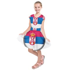 Serbia Flag Icon Europe National Kids  Short Sleeve Dress