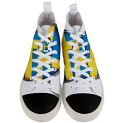Sweden Flag Country Countries Men s Mid Top Canvas Sneakers
