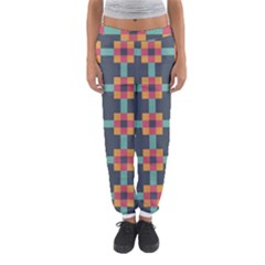 Squares Geometric Abstract Background Women s Jogger Sweatpants