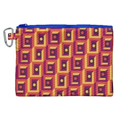 3 D Squares Abstract Background Canvas Cosmetic Bag (xl)