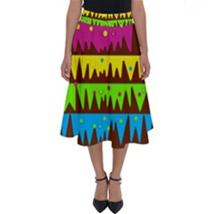 Illustration Abstract Graphic Perfect Length Midi Skirt