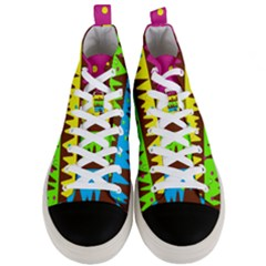 Illustration Abstract Graphic Men s Mid Top Canvas Sneakers