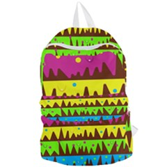 Illustration Abstract Graphic Foldable Lightweight Backpack