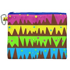 Illustration Abstract Graphic Canvas Cosmetic Bag (xxl)