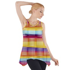 Art Background Abstract Side Drop Tank Tunic