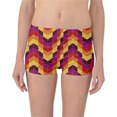 Geometric Pattern Triangle Reversible Boyleg Bikini Bottoms