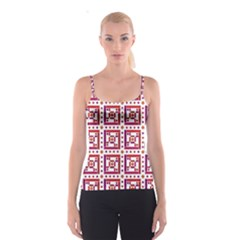 Background Abstract Square Spaghetti Strap Top