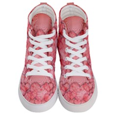 Heart Love Friendly Pattern Women s Hi Top Skate Sneakers