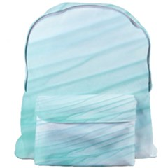 Blue Texture Seawall Ink Wall Painting Giant Full Print Backpack