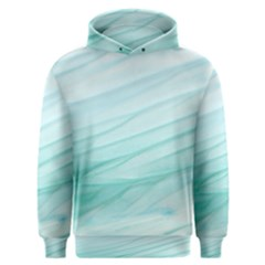Blue Texture Seawall Ink Wall Painting Men s Overhead Hoodie