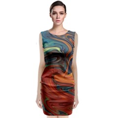 Creativity Abstract Art Classic Sleeveless Midi Dress