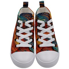 Creativity Abstract Art Kid s Mid Top Canvas Sneakers