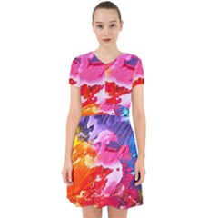Abstract Art Background Paint Adorable In Chiffon Dress