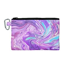 Abstract Art Texture Form Pattern Canvas Cosmetic Bag (medium)