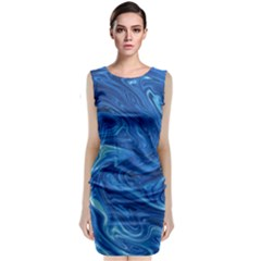 Abstract Pattern Texture Art Classic Sleeveless Midi Dress