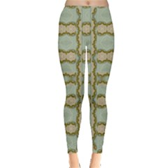 Celtic Wood Knots In Decorative Gold Leggings