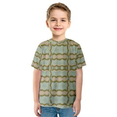 Celtic Wood Knots In Decorative Gold Kids  Sport Mesh Tee