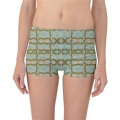 Celtic Wood Knots In Decorative Gold Boyleg Bikini Bottoms