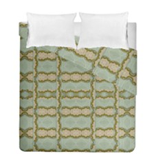 Celtic Wood Knots In Decorative Gold Duvet Cover Double Side (full/ Double Size)