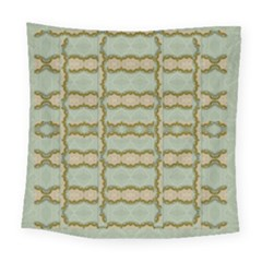 Celtic Wood Knots In Decorative Gold Square Tapestry (large)