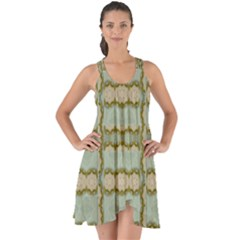 Celtic Wood Knots In Decorative Gold Show Some Back Chiffon Dress
