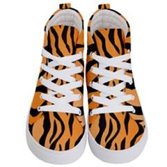 Tiger Fur 2424 100p Kid s Hi Top Skate Sneakers