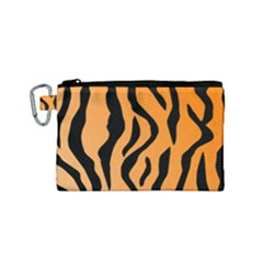 Tiger Fur 2424 100p Canvas Cosmetic Bag (small)