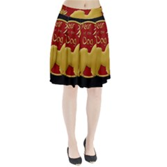 Year Of The Dog   Chinese New Year Pleated Skirt