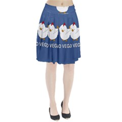Go Vegan   Cute Chick  Pleated Skirt