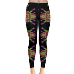 Paradise Flowers In A Decorative Jungle Leggings