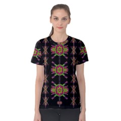 Paradise Flowers In A Decorative Jungle Women s Cotton Tee