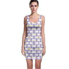 Decorative Ornate Pattern Bodycon Dress