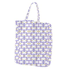 Decorative Ornate Pattern Giant Grocery Zipper Tote
