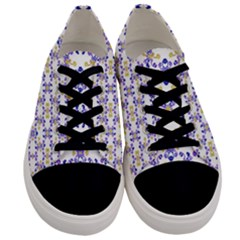 Decorative Ornate Pattern Men s Low Top Canvas Sneakers
