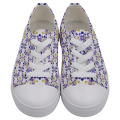 Decorative Ornate Pattern Kids  Low Top Canvas Sneakers