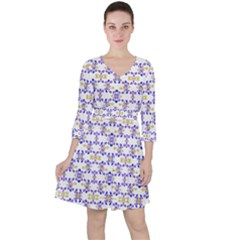 Decorative Ornate Pattern Ruffle Dress