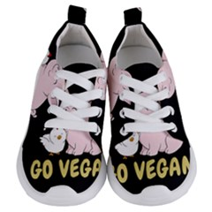Go Vegan   Cute Pig And Chicken Kids  Lightweight Sports Shoes